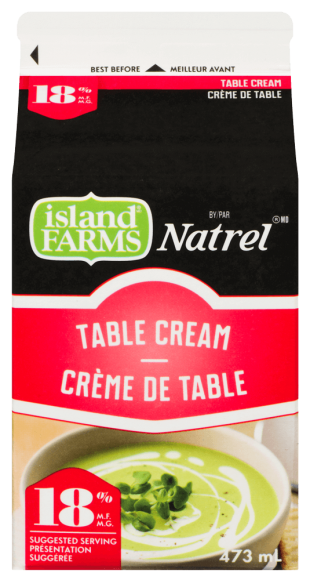 Island Farms by Natrel 18% Table Cream
