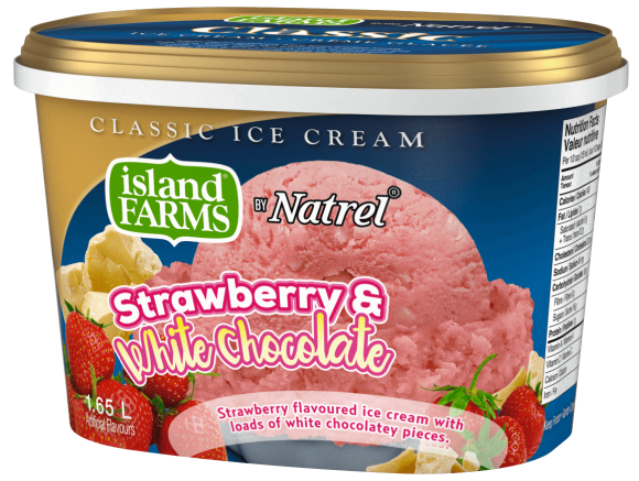 Island Farms Classic Strawberry & White Chocolate Ice Cream