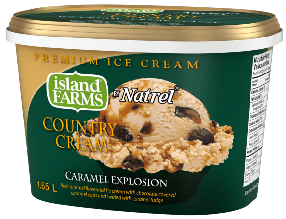 Island Farms Country Cream Caramel Explosion Ice Cream