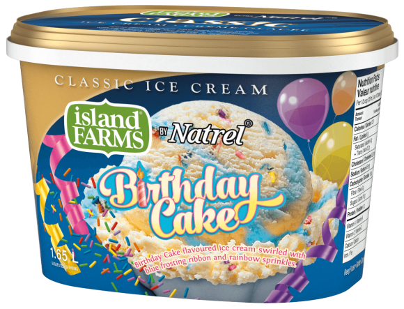 Island Farms Classic Birthday Cake Ice Cream