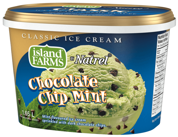 Island Farms Classic Chocolate Chip Mint Ice Cream