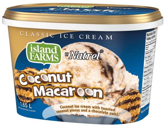 Island Farms Classic Coconut Macaroon Ice Cream
