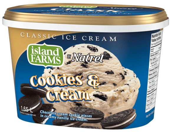 Island Farms Classic Cookies & Cream Ice Cream