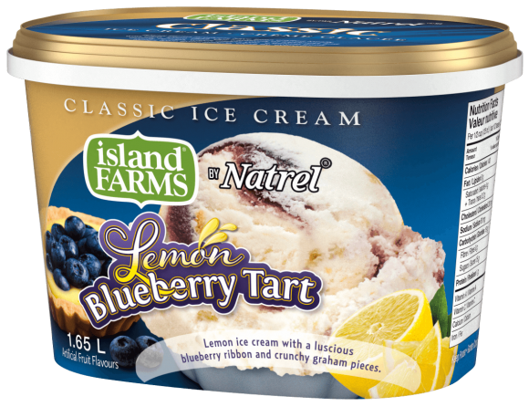 Island Farms Classic Lemon Blueberry Tart Ice Cream