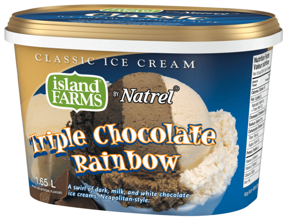 Island Farms Classic Triple Chocolate Rainbow Ice Cream