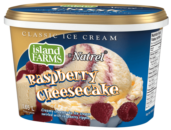 Island Farms Classic Raspberry Cheesecake Ice Cream