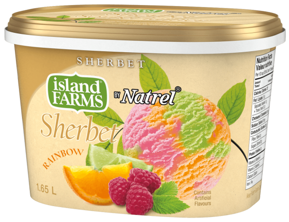 Island Farms Rainbow Sherbet