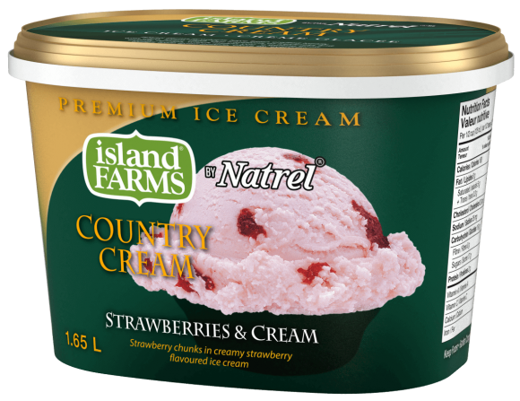 Island Farms Country Cream Strawberries 'N Cream Ice Cream