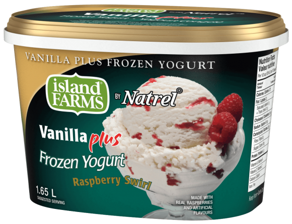 Island Farms Vanilla Plus Raspberry Swirl Frozen Yoghurt