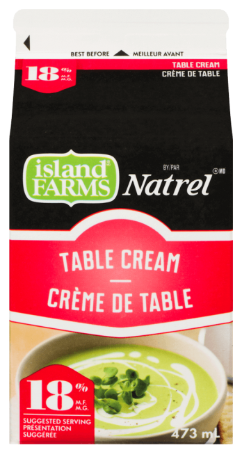 Island Farms by Natrel 18% Table Cream 473 Milliliters