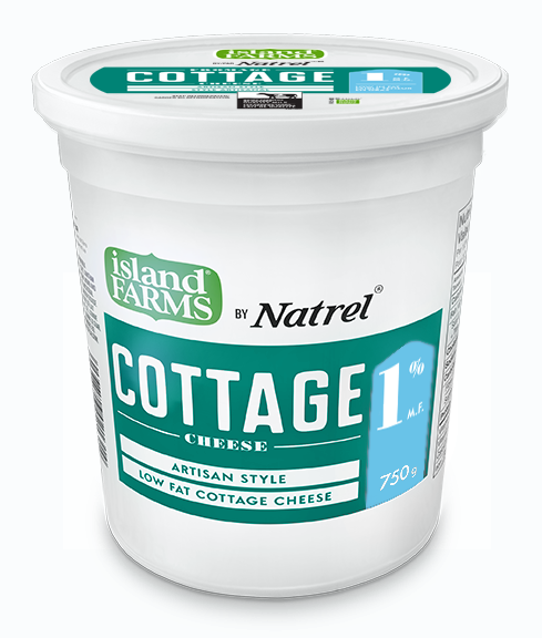 Cottage Cheese Island Farms 1% 750g