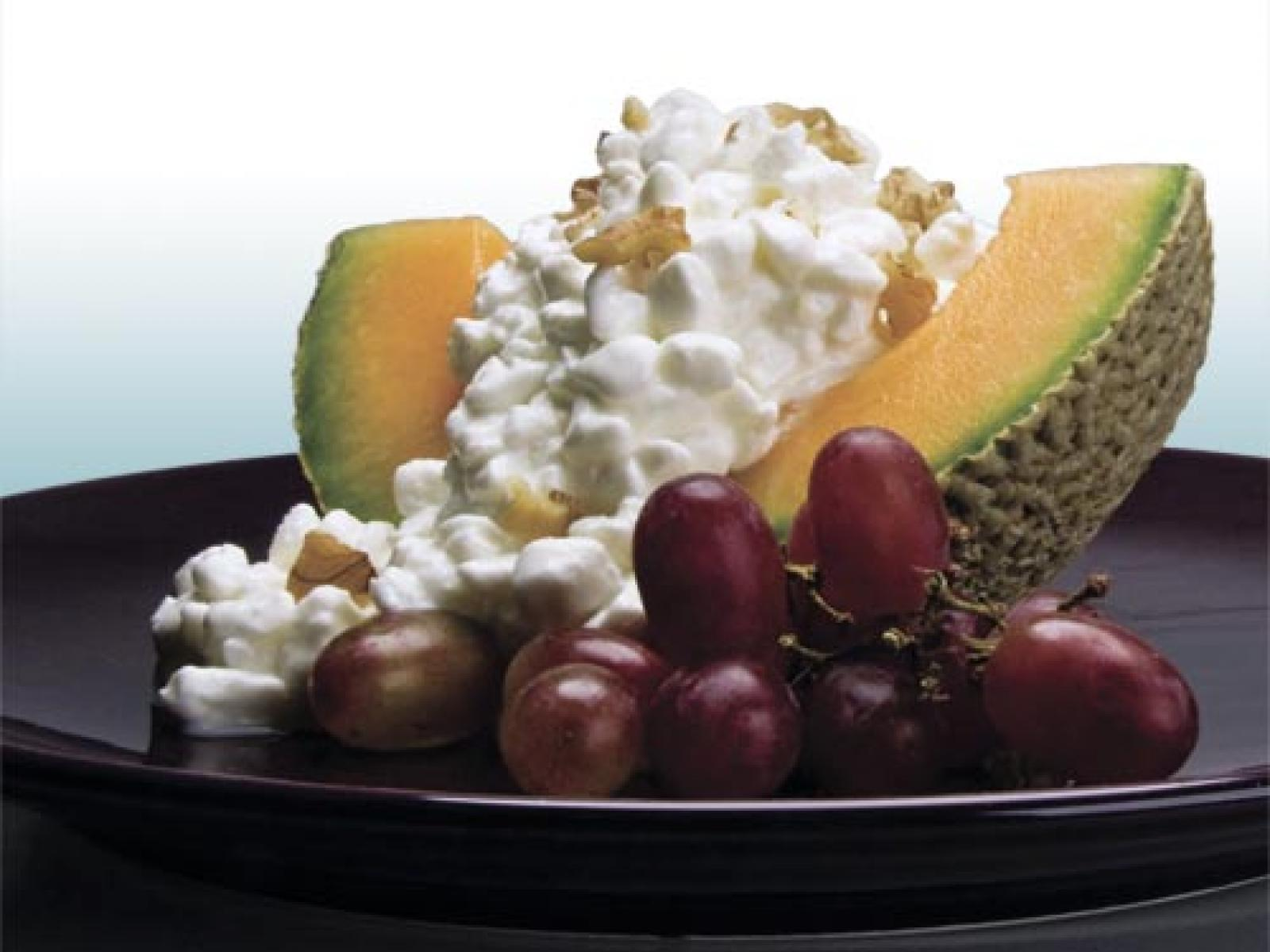 Melon Cottage Cheese Salad recipe